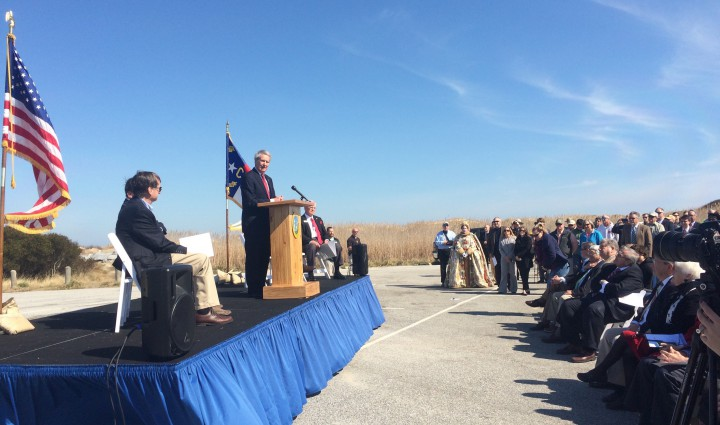 Rep. Walter Jones speaks during the event. Photo: Catherine Kozak