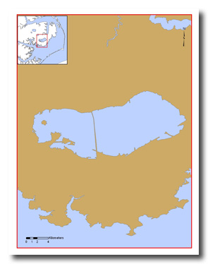 Lake Mattamuskeet stretches 18 miles long and seven miles wide on the Albemarle-Pamlico peninsula. Map: UNC Coastal Studies Institute