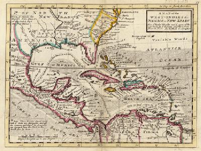 The Spanish Main in the 17th century. Map: The Spanish Main.com