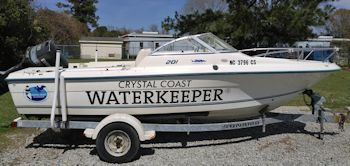This is one of two boats Larry Baldwin will have to monitors waters in Carteret County area. Photo: Larry Baldwin