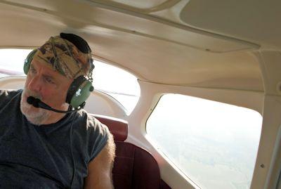 Waterkeeper Larry Baldwin uses an airplane to monitor hog farms. Photo: Larry Baldwin