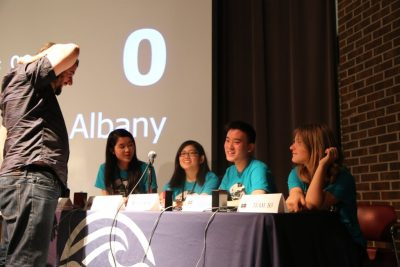 The Albany High School team of Albany, Calif., competes in the National Ocean Sciences Bowl in Morehead City. Photo: National Ocean Sciences Bowl