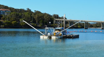 Dredging new channels may be a problem because a portion of Queens Creek is considered primary nursery areas for fish and shellfish. Photo: Dredging Today