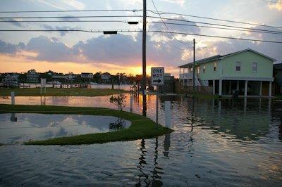 A king tide in 2009 flooded portions of Carolina Beach. Photo: Island Gazette