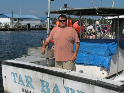 Dewey Hemilright, a commercial fishermen, has completed a map specific to the pelagic longline industry that shows when and where pelagic long-lining happens off the coast of North Carolina. Photo: N.C. Catch