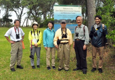 The group poses at Hammocks Beach State Park. Photo: Todd Miller