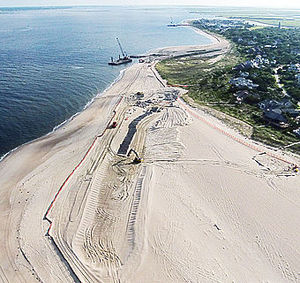 Bald Head Island didnt need easements to build its terminal groin. Photo: State Port Pilot
