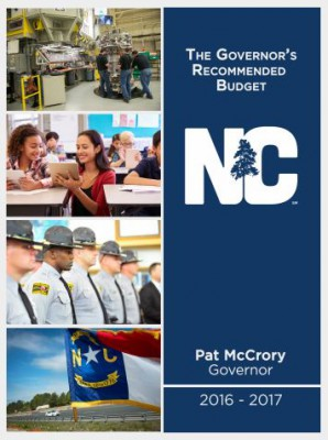 Gov. Pat McCrory's recommended spending plan totals $22.3 billion. Photo: N.C. Office of State Budget and Management