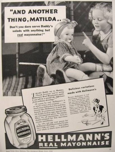 """Richard Hellmann, owner of a deli in New York City, decided in 1912 to begin packing his wife's mayonnaise in individual glass jars instead of ladling out portions and selling it by weight. By 1927, he gave up the deli business to concentrate on manufacturing his emulsion. Thus, the ubiquitous potato salad was born. Photo: """"The Food Chronology,"""" James Trager, 1995, Henry Holt and Co."""