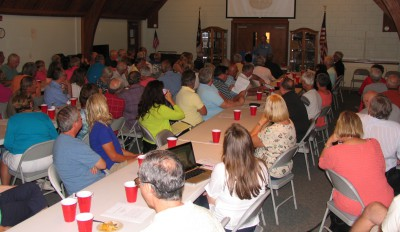 More than 100 people attended a public forum on the proposed terminal groin at Holden Beach. Photo: Tracy Skrabal