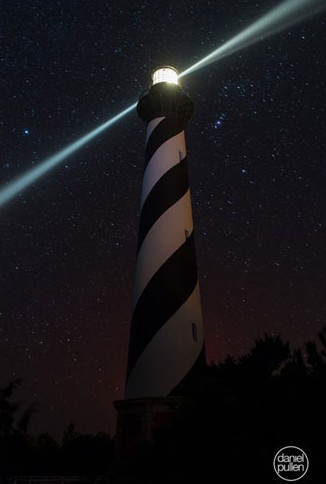 This image shows the Cape Hatteras Lighthouse when its beacon stopped rotating in February. Photo: Daniel Pullen