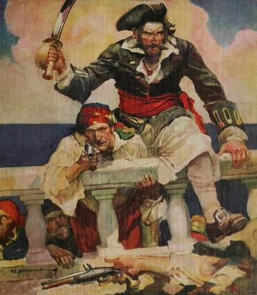 Edward Teach, better known as Blackbeard may be the best-known pirate who ever lived but he had nothing to do with the greatest act of piracy even committed. Illustration: Wikipedia