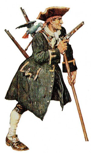 Only a real pirate nerd has heard of John Lloyd, but you may know him as Long John Silver. Illustration: Wikipedia
