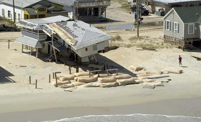 In the end, sandbags are often futile. Photo: Island Free Press