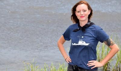 Nicole Triplett hit the water paddling when she took over as the new riverkeeper. Photo: Mark Hibbs