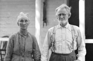 James Hobbs and his wife, Eliza. Library of Congress image enhanced by Joyner Library, East Carolina University.