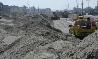 The portion of N.C. 12 between the Pea Island National Wildlife Refuge and Rodanthe has been battered by storms. Photo: U.S. Fish and Wildlife Service
