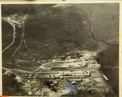 This 1960 aerial photo of Navassa on display at town hall shows the industry in place at the time.