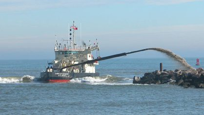 The designation of critical habitat for the Atlantic sturgeon will require closer consultation with federal officials on dredging projects. Photo: Dredging Today
