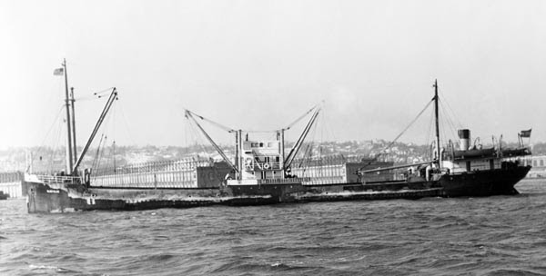 The freighter SS Bluefields was sunk by the German submarine U-576 in July 1942. The wrecks of the two ships were discovered in 2014 off Cape Hattaras, North Carolina, only 240 yards apart. Photo: Mariners' Museum