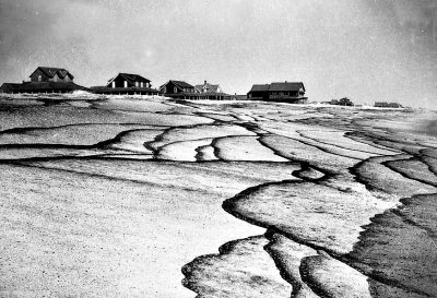 A photograph Nellie Myrtle Pridgen made of oil from a shipwreck spoiling the beach was published in National Geographic magazine. Photo: Outer Banks Beachcomber Museum