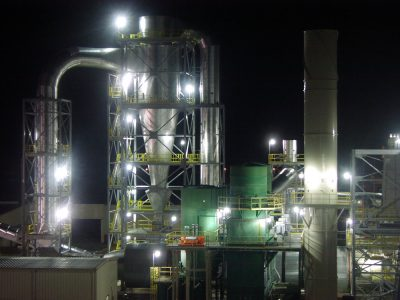 Shown is the dryer at the Enviva wood pellet manufacturing facility in Ahoskie. Photo: Enviva