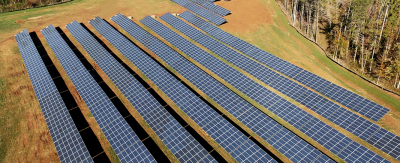 Germantown Solar is a 1.5 megawatt development by Pine Gate Renewables in Forsyth County. Photo from pgrenewables.com.