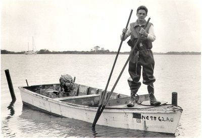 Lena Ritter spent her life fishing the waters of Stump Sound and became famous as an eloquent voice of the sound. Photo: N.C. Coastal Federation