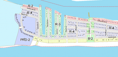 Property owners along the canals are concerned that removing sand from the protective frontal dunes could make their properties vulnerable in storms. Map: Topsail Beach