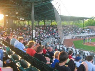 Fans watch a Kinston Indians baseball game at Grainger Stadium in 2006. Photo: Wikipedia