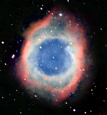 """The Helix Nebula, NGC 7293, or """"the Eye of God"""" is a relatively close 900 light years away. Photo: Gerry Lebing"""