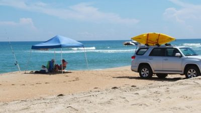 Off-road vehicle use is allowed in certain areas of Cape Hatteras National Seashore, for both sound and ocean access. Photo: Cape Hatteras National Seashore