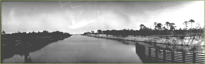 Snows Cut, part of the Atlantic Intracoastal Waterway, was completed in 1931. Photo: New Hanover County Public Library