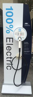 A charging station designed for the Nissan LEAF. Photo: Mark Hibbs