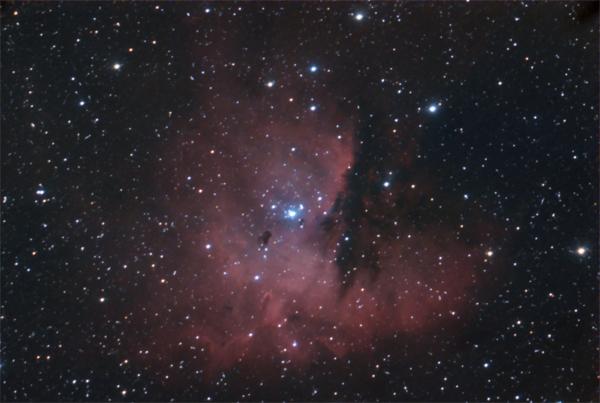 The Pacman Nebula is 4,000 light years away. Photo: Gerry Lebing