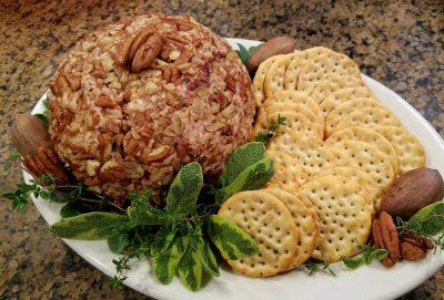 A holiday cheese ball served with Ritz crackers is a holiday tradition along North Carolina's coastal plain. Photo: Liz Biro
