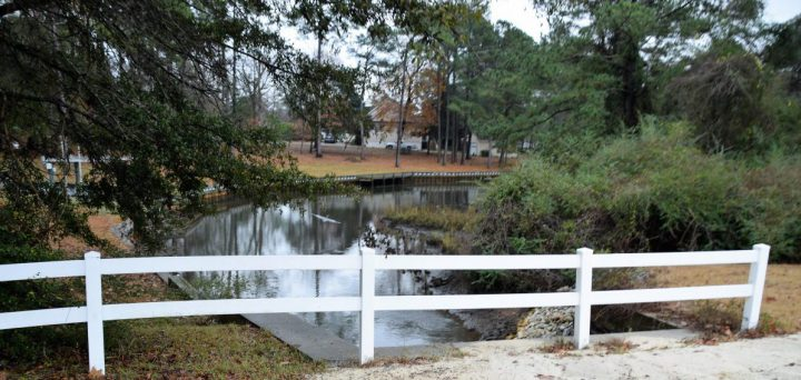 Water from the ponds eventually drains into Deer Creek, a tributary of Bogue Sound. Photo: Mark Hibbs