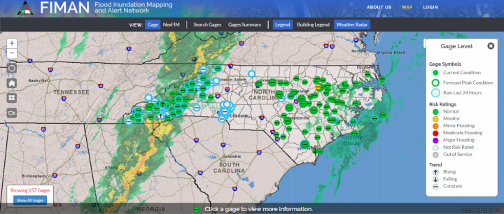Emergency responders credit the state's Flood Inundation Mapping Program and Alert Network with helping them save lives. Source: Department of Public Safety
