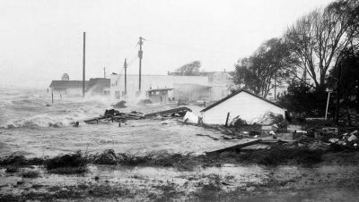 Hurricane Hazel in 1954 brought flooding to Morehead City. Photo: National Weather Service