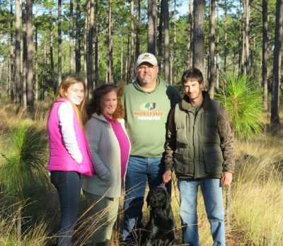 The Lanier family of Brunswick County donated a conservation easement covering more than 57 acres along Slab Branch, a Town Creek tributary. Photo: Coastal Land Trust
