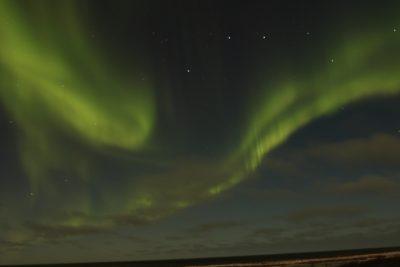 Northern lights, or aurora borealis, put on a show above the lodge. Photo: Sam Bland