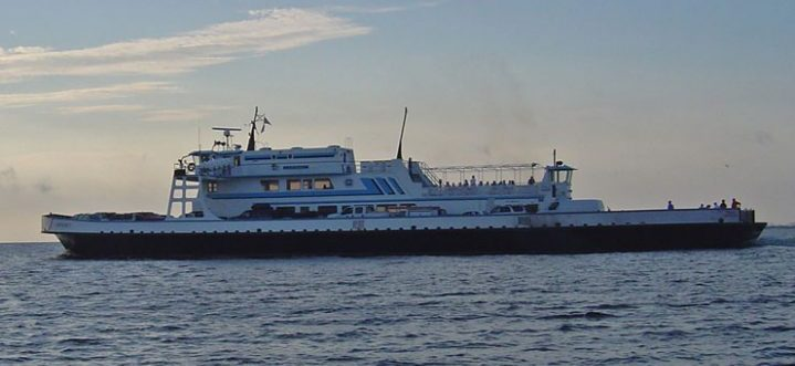 The M/V Carteret is one of two state ferries equipped with water quality monitoring equipment used in the FerryMon program. Photo: N.C. Department of Transportation