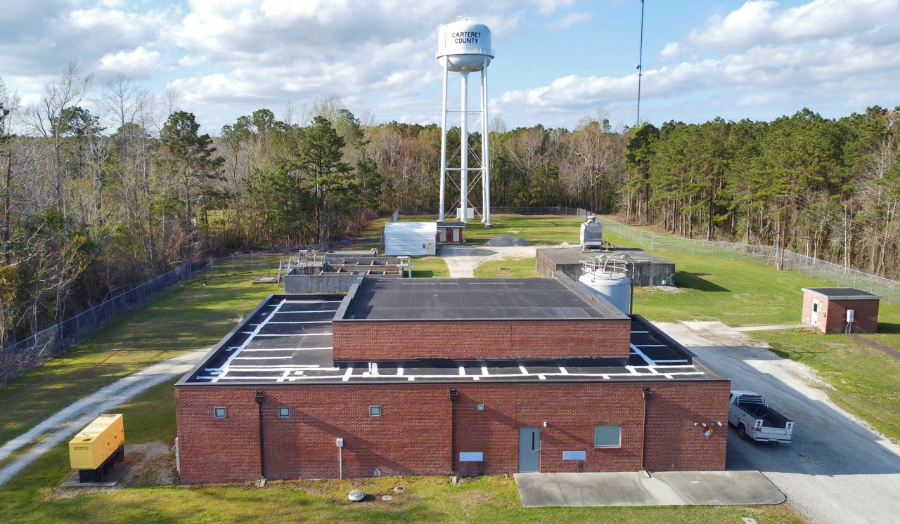 The Carteret County Water Department facility at 526 Laurel Road in Beaufort supplies water to numerous outlying neighborhoods surrounding Beaufort. Photo: Dylan Ray