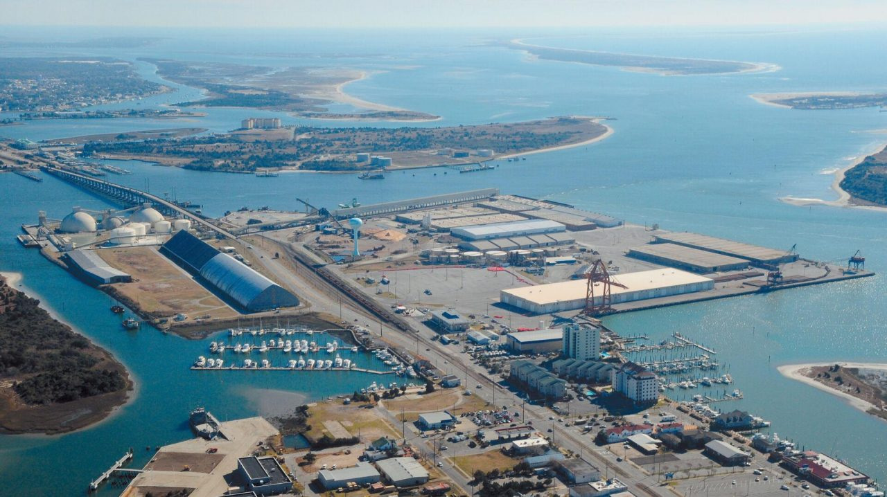 The North Carolina State Ports Authority's facility on Radio Island could be used to support the nation's offshore wind industry as a staging or manufacturing port for parts, according to one Carteret County official. Photo: News-Times