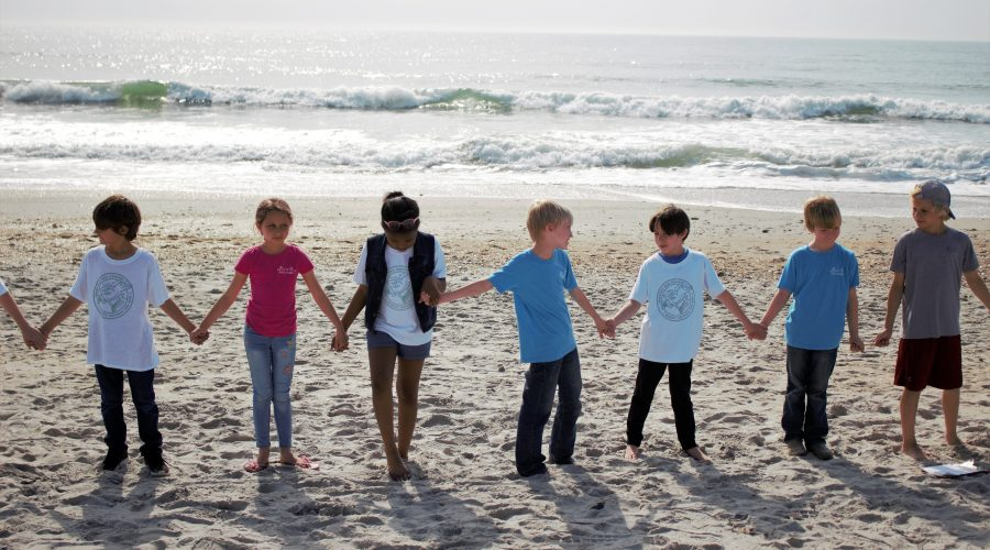 Wrightsville Beach Elementary students participate in a beach cleanup. Photo: Contributed