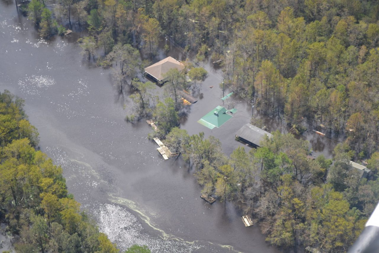 Because of frequent flooding, an example of which is shown in this Sept. 23, 2018, photo, 31 homes in Pender County will be acquired using funds approved by the state and FEMA. Photo: Pender County Emergency Management