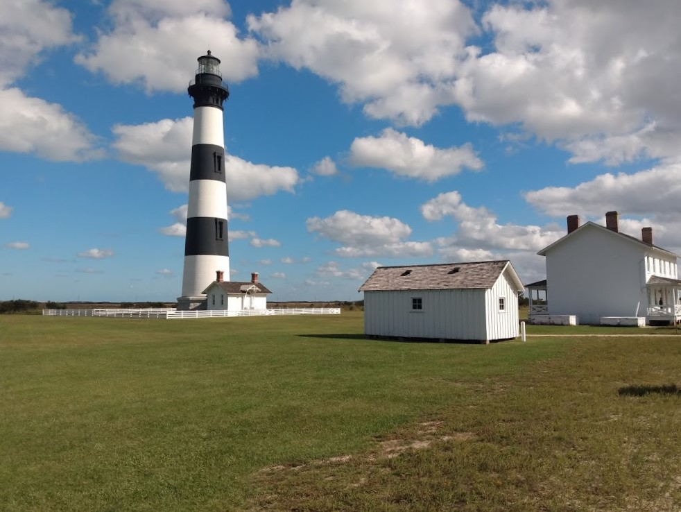 Bodie Island Lighthouse, shown here, is part of the Cape Hatteras National Seashore. Photo: Jennifer Allen