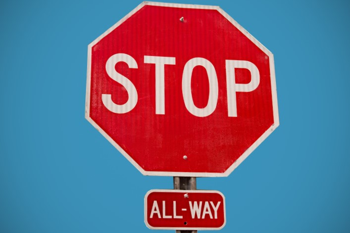 An all-way stop will be installed next week at an intersection in Washington. Photo: NCDOT