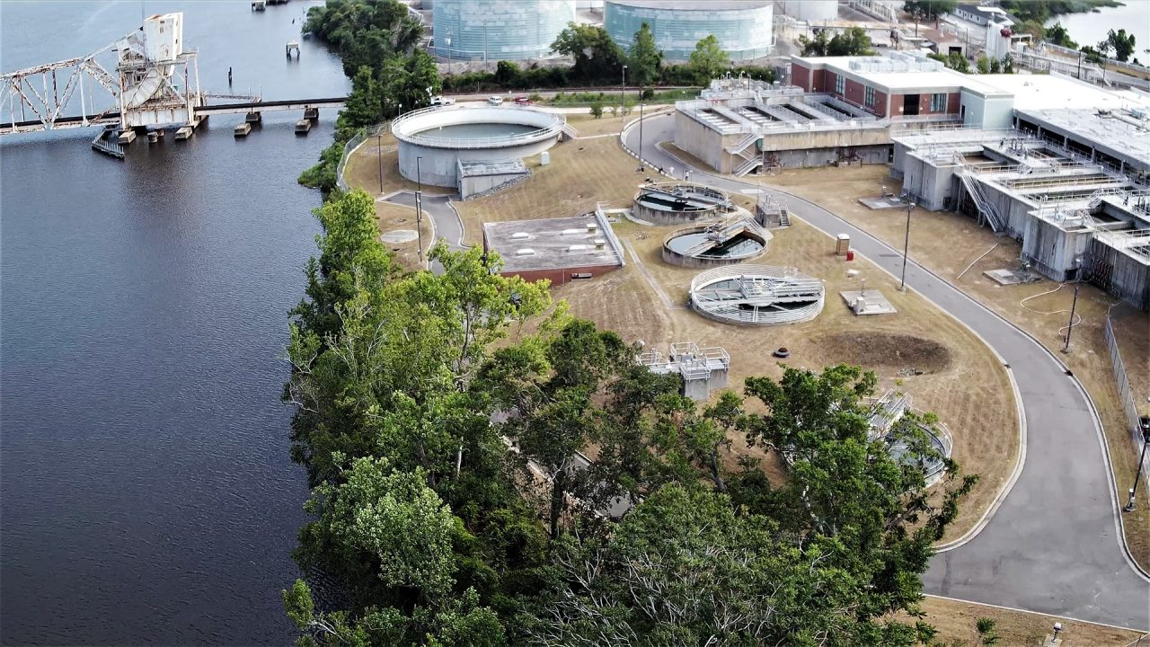 Cape Fear Public Utility Authority's Sweeney Water Treatment Plant on the Cape Fear River in Wilmington. Photo: CFPUA