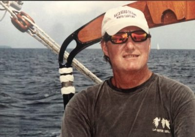 An avid sailor, Kevin Duffus has skippered numerous boats in races on the N.C. coast. Photo courtesy Nathalie Matthews